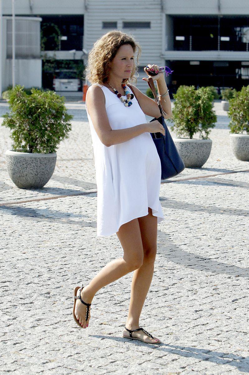 Monika Mrozowska - Mrozowska w szóstym miesiącu ciąży