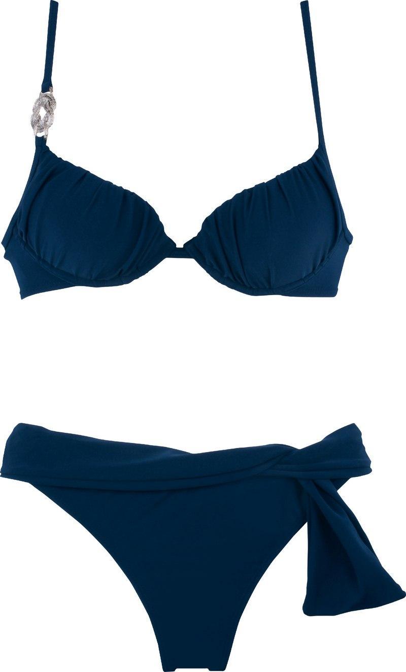 granatowe bikini Calzedonia - z kolekcji wiosna-lato 2012