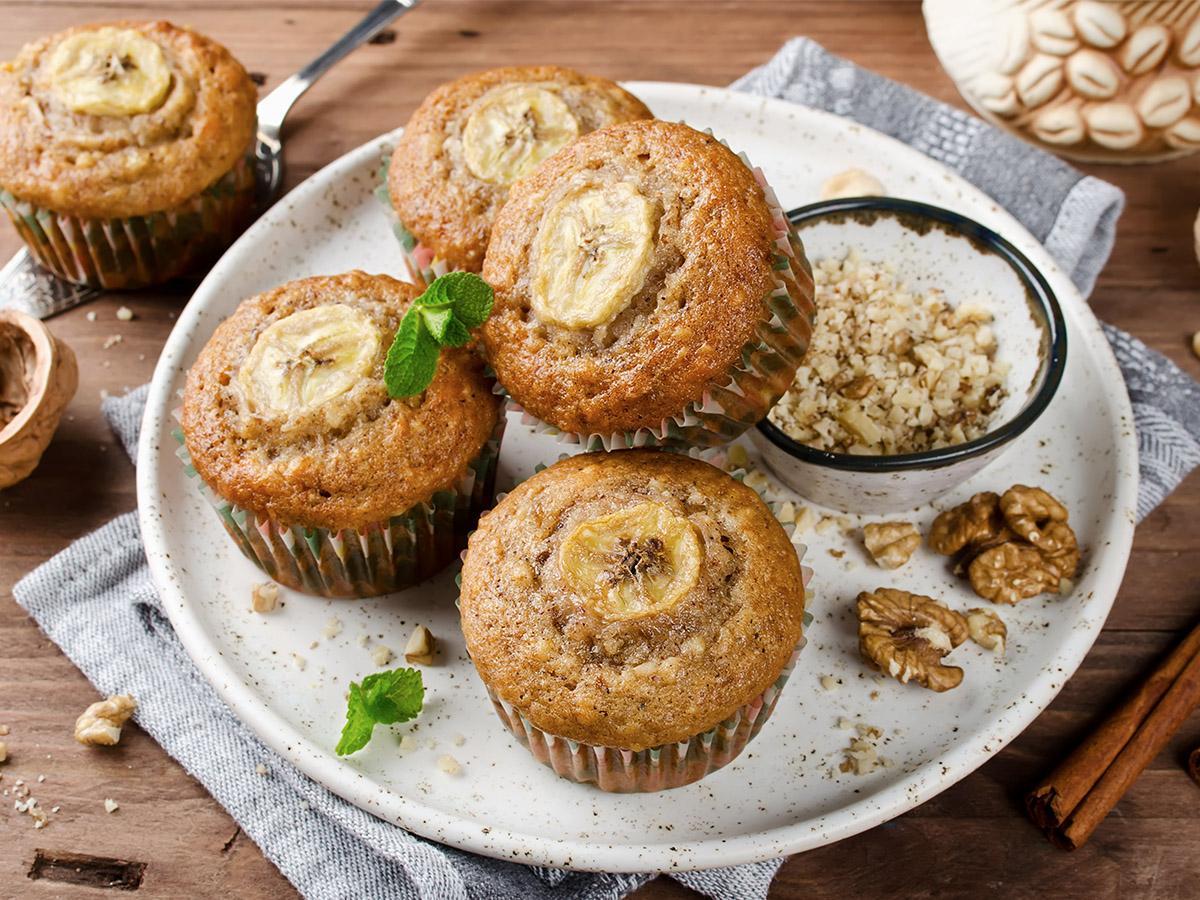 przepis na muffiny bananowe