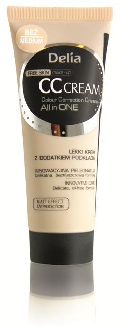 Krem CC Free Skin - Delia Cosmetics