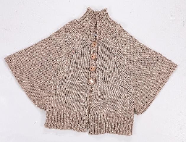 Bialcon, sweter peleryna, beż