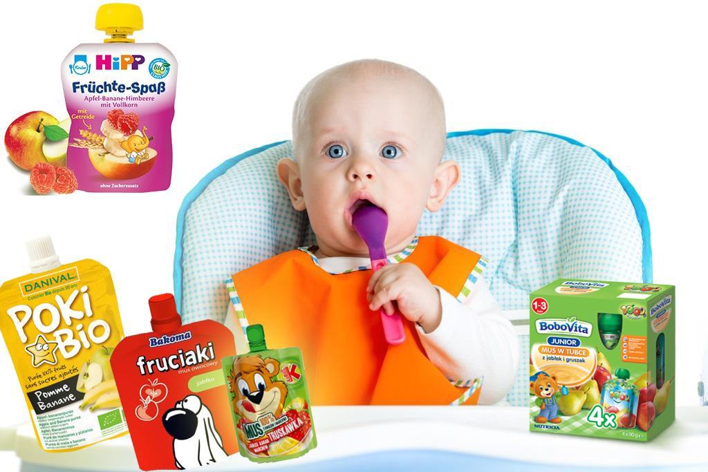 Musy owocowe w saszetkach dla dzieci [zestawienie]
