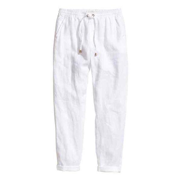 Materiałowe spodnie na lato H&M, cena
