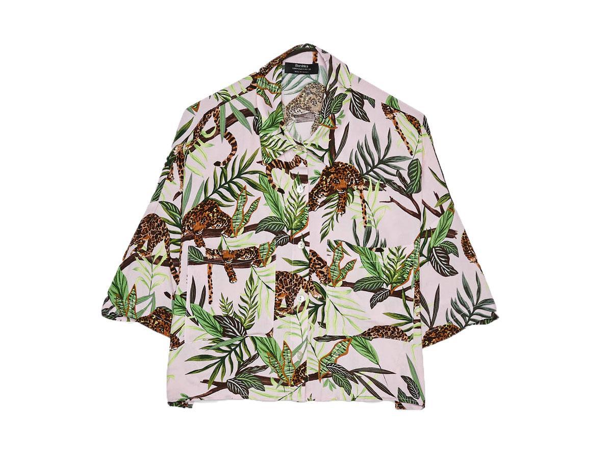 Koszula z tropikalnym nadrukiem, Bershka, cena ok. 69,90 zł
