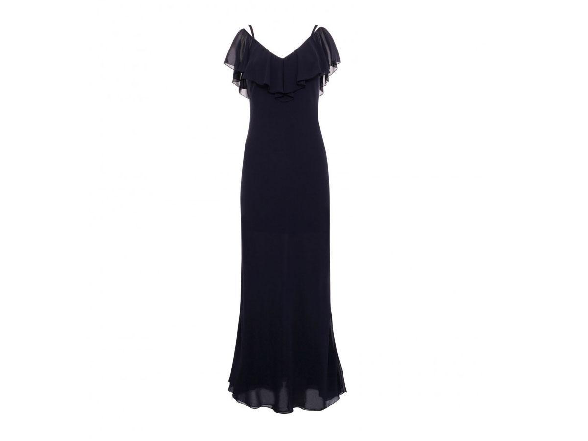 Granatowa sukienka szyfonowa Hexeline