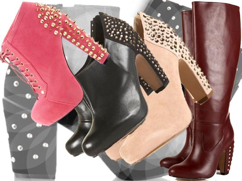 Modne buty z naćwiekowanymi obcasami
