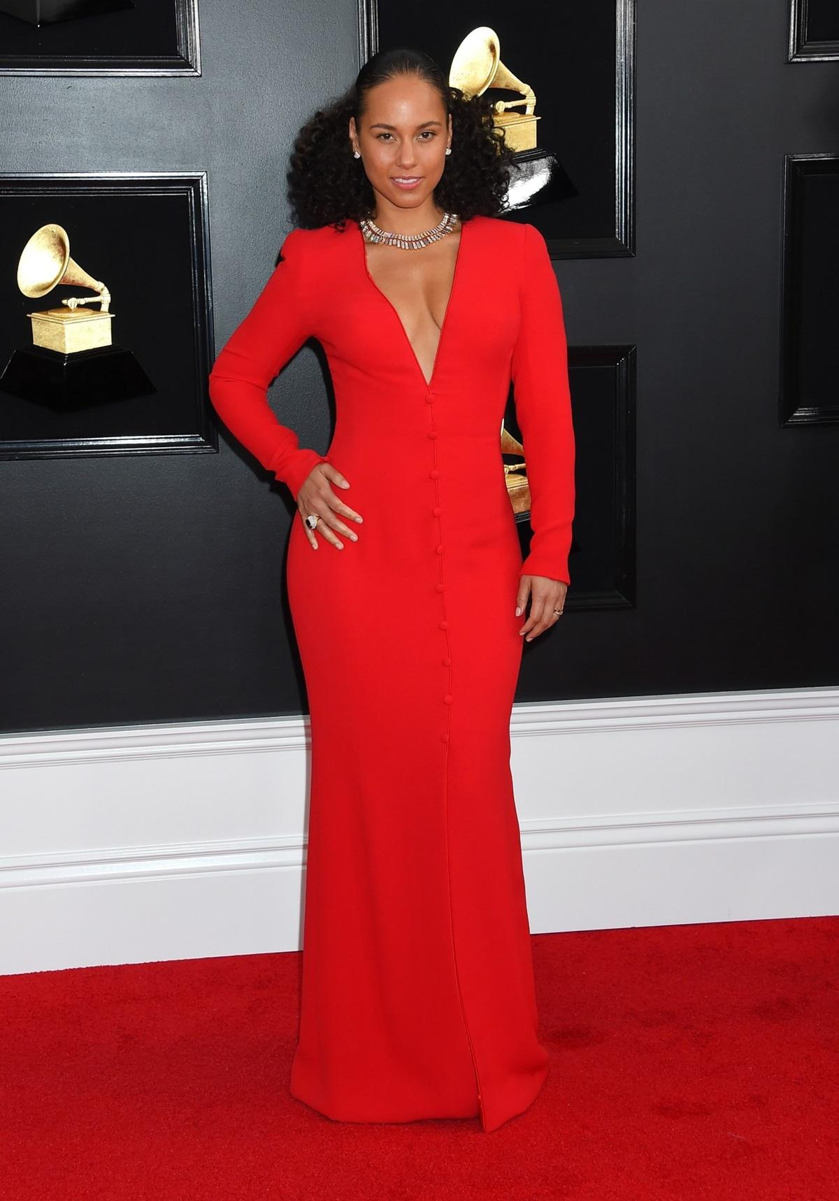 Alicia Keys na rozdaniu Grammy 2019