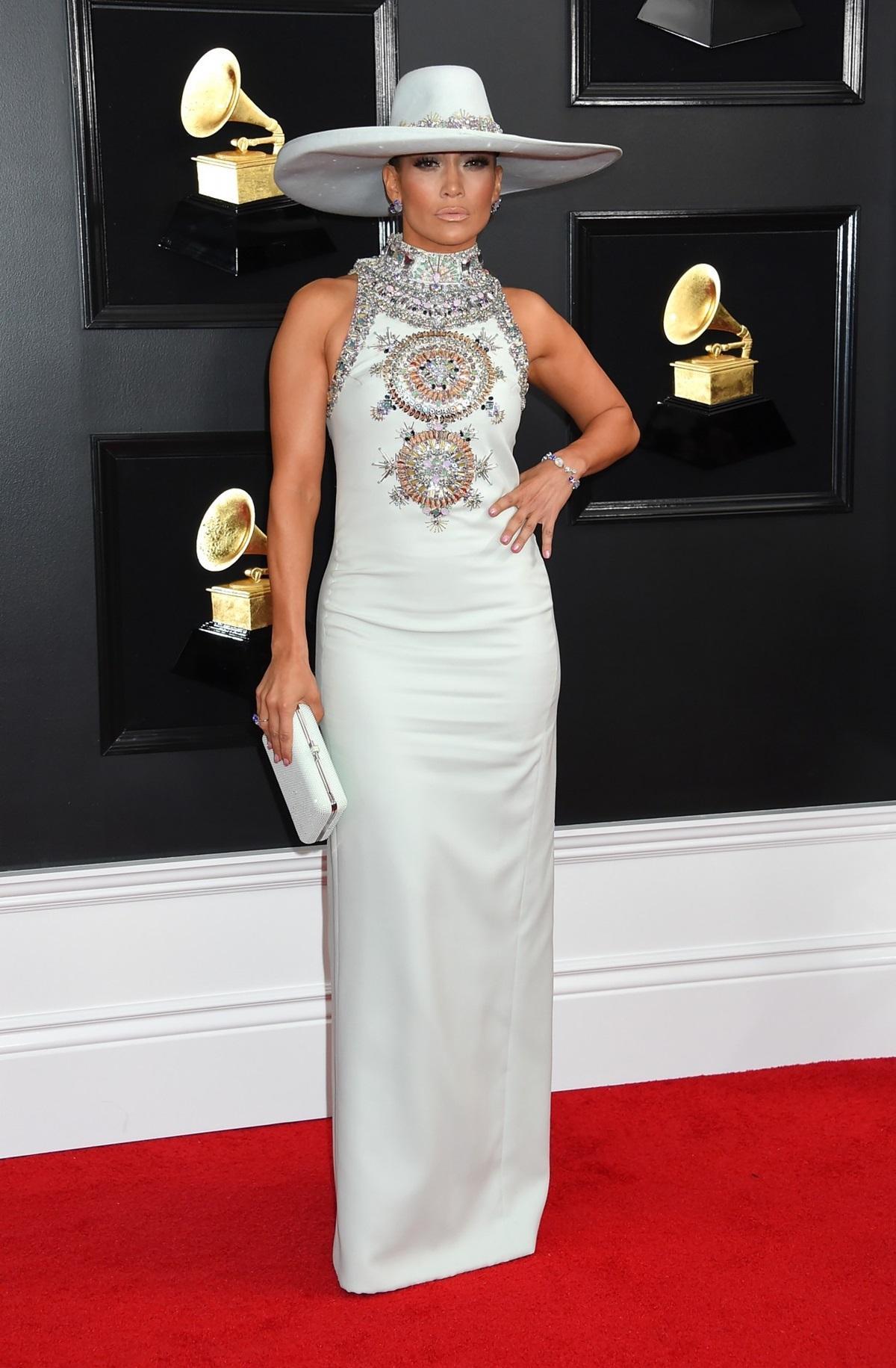 Jennifer Lopez na rozdaniu Grammy 2019