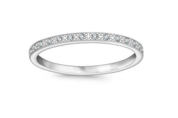 ef80023075 Obrączka Forever z białego złota z diamentami