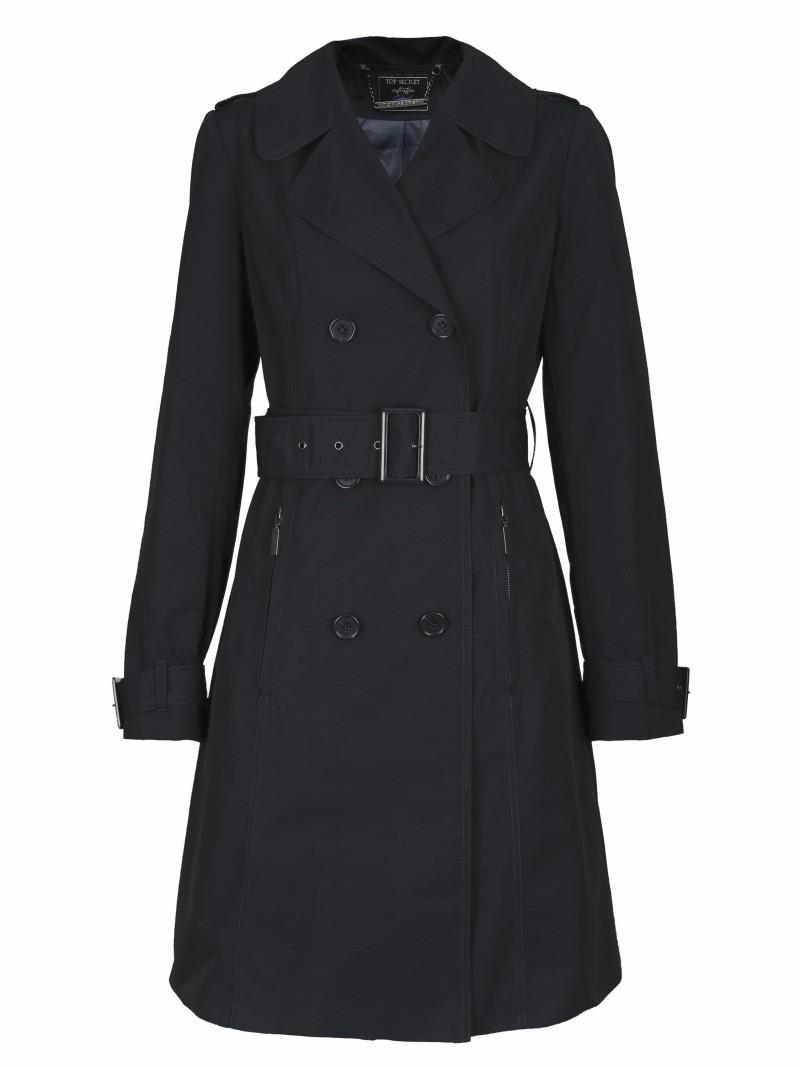 czarny płaszcz Top Secret - moda 2011