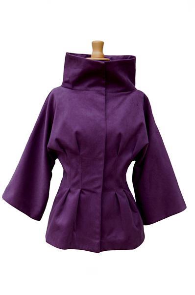 fioletowy płaszczyk Kasia Hubińska - wiosenna kolekcja