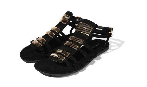 Czarne sandały, Reserved, cena: 119,99 zł