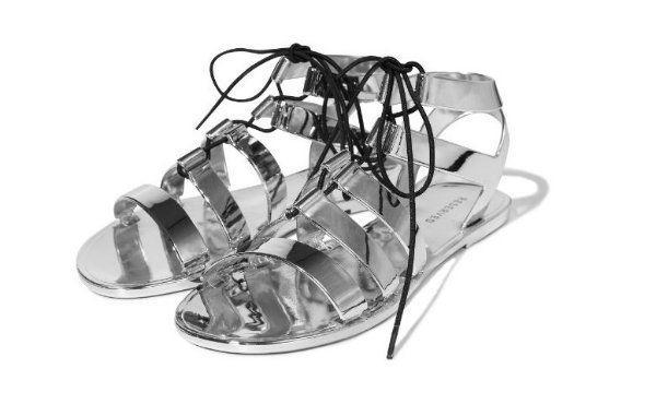 Srebrne sandały, Reserved, cena: 69,99 zł