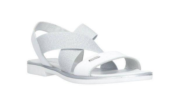 Srebrno-białe sandały, CCC, cena: 119,99 zł