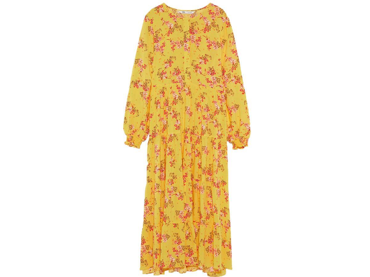 sukienka kwiaty zara 199 zł