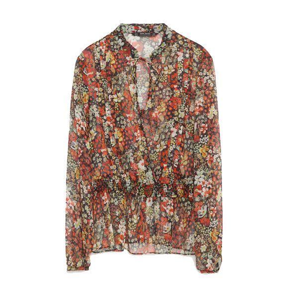 Bluzka w kwiaty Zara, cena