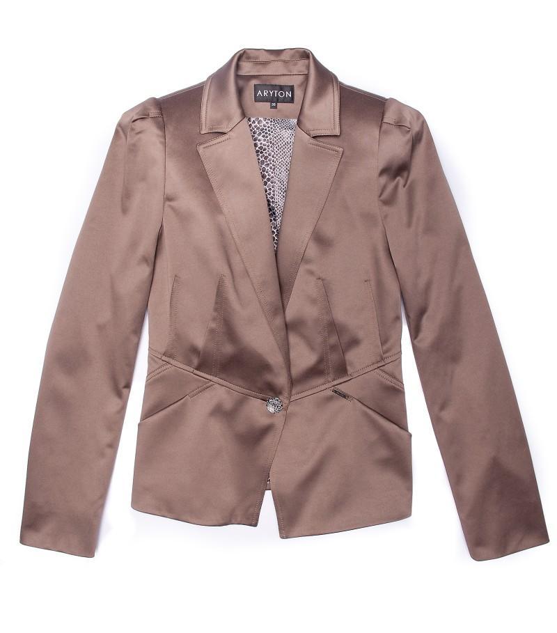 brązowy żakiet Aryton błyszczący - moda 2011