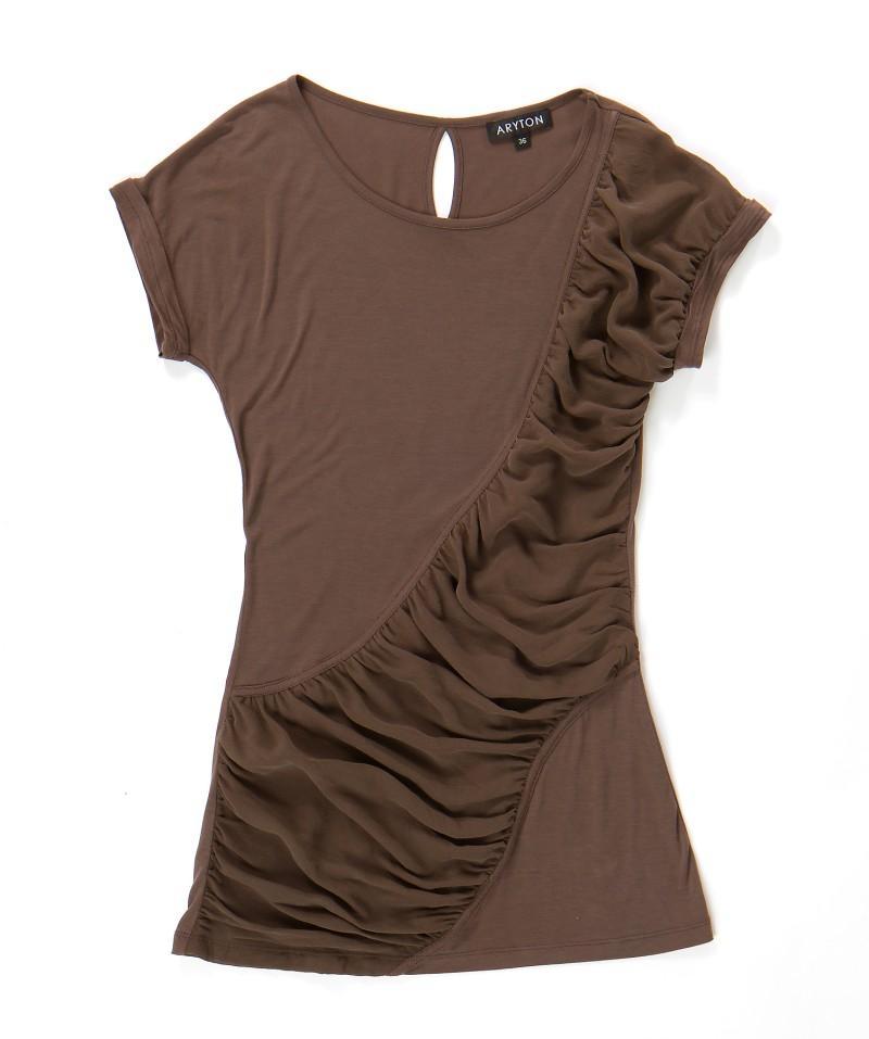 brązowa bluzka Aryton - moda wiosna/lato
