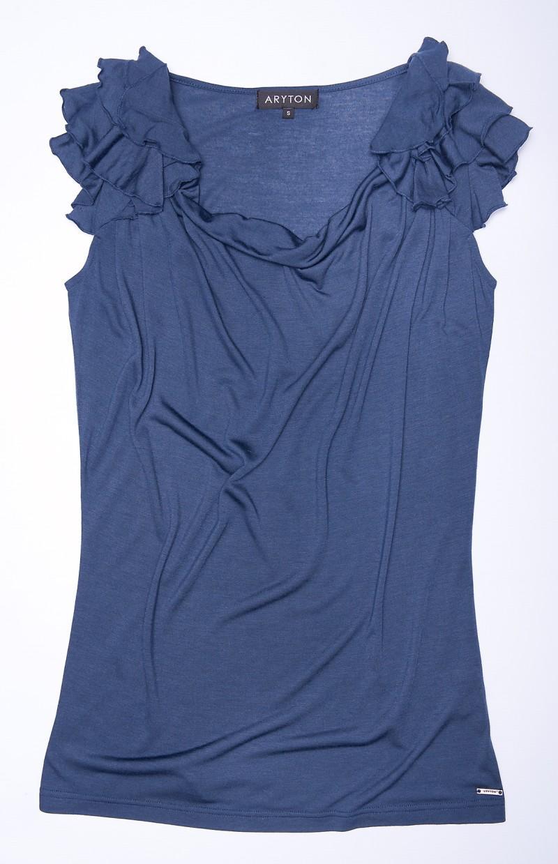 granatowa bluzka Aryton z falbanami - wiosna/lato 2011