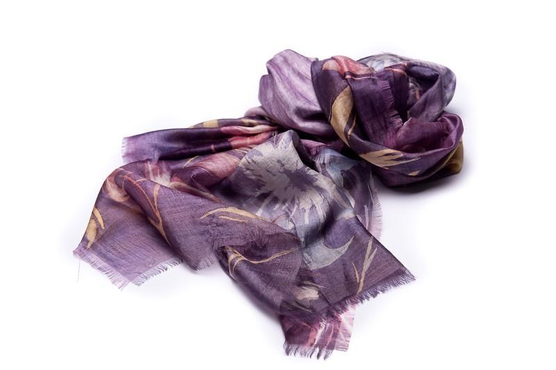 fioletowa apaszka Aryton we wzory - moda wiosna/lato