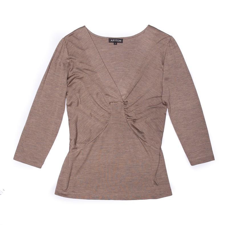 brązowa bluzka Aryton - sezon wiosenno-letni