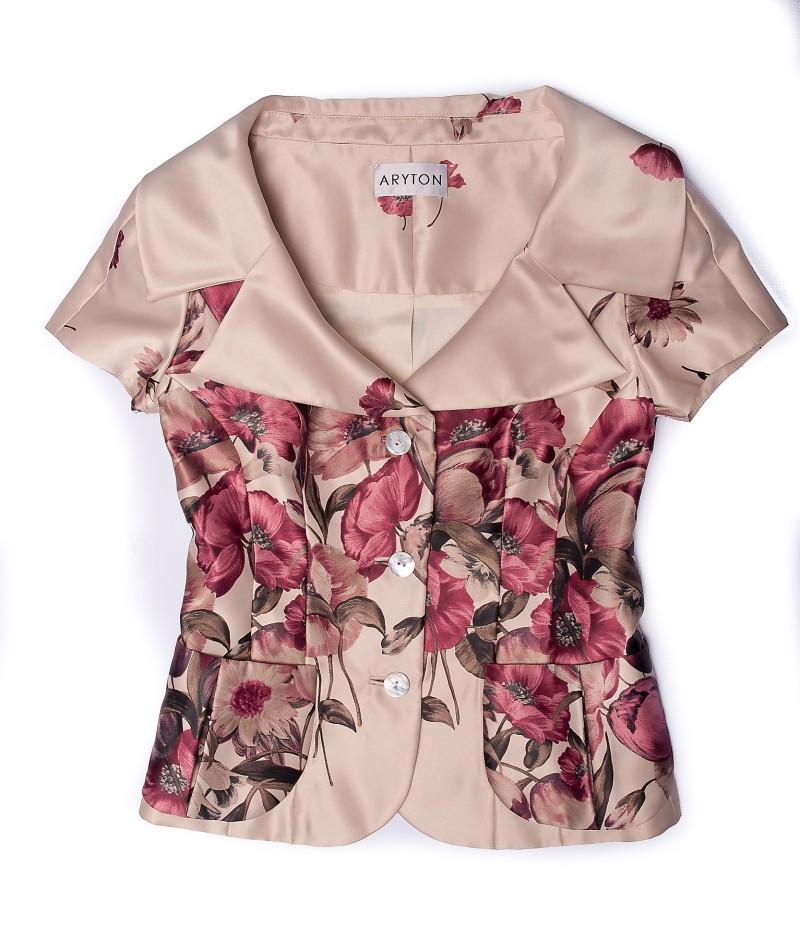 różowy żakiet Aryton w kwiaty - wiosna/lato 2011