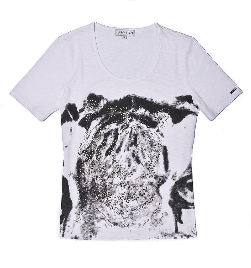 biała bluzka Aryton z aplikacją - wiosna-lato 2011