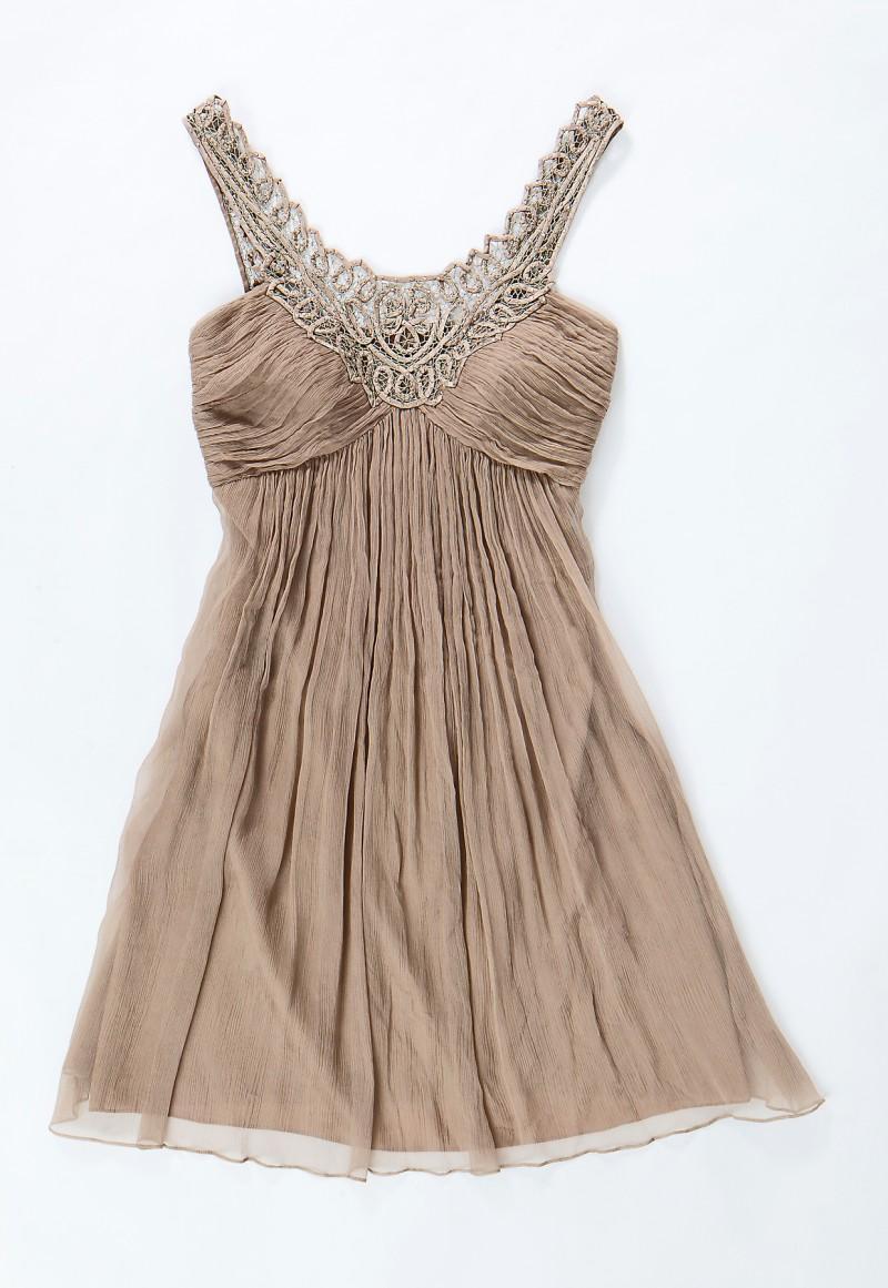 brązowa sukienka Aryton - sezon wiosenno-letni