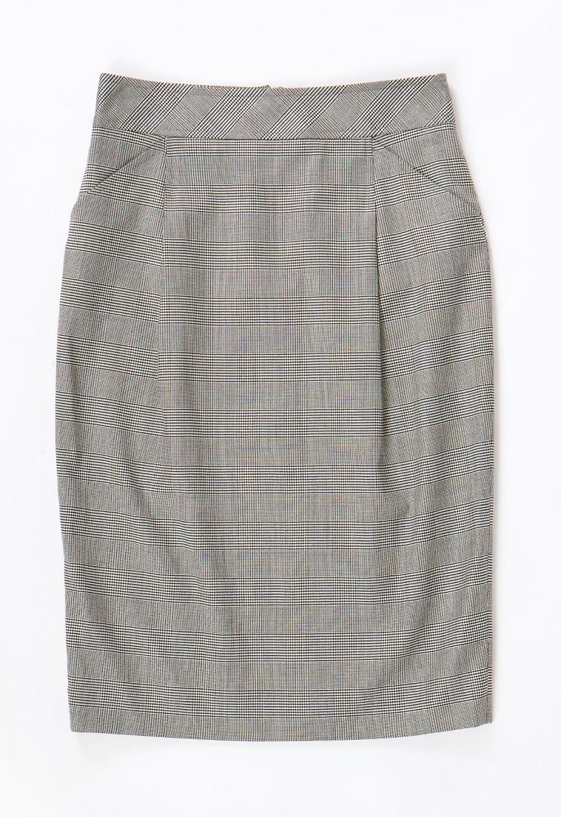 szara spódnica Aryton w kratkę - trendy wiosna-lato