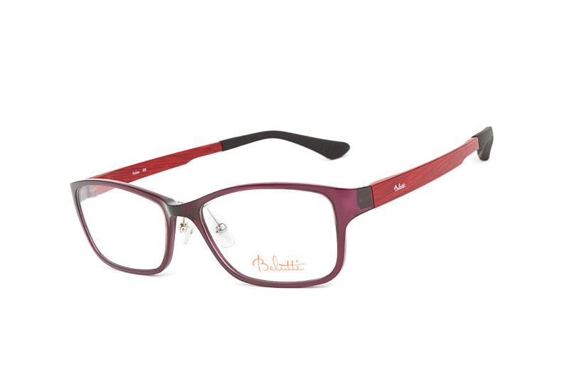 okulary Belutti w kolorze bordowym