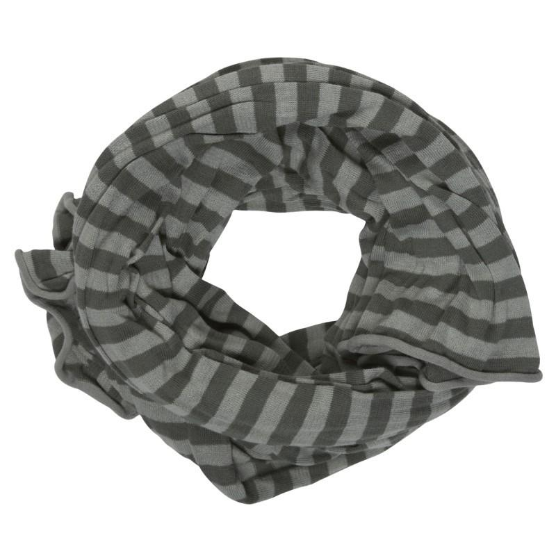 szary szalik Cottonfield w paski - z kolekcji wiosna-lato 2011