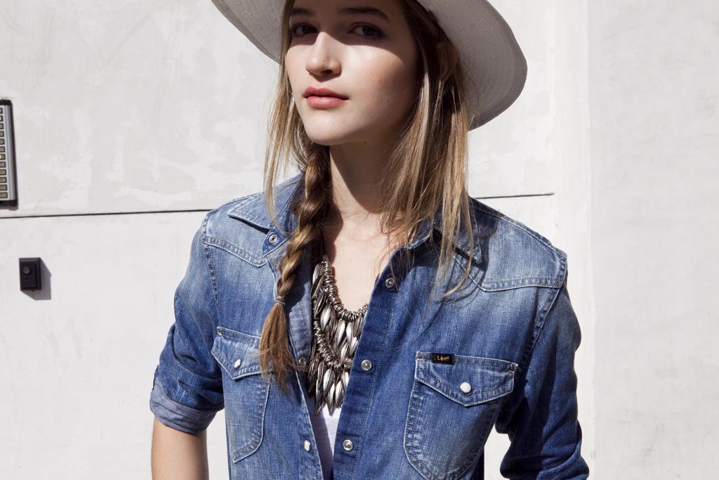 niebieska koszula Lee dżinsowa - z kolekcji wiosna-lato 2011
