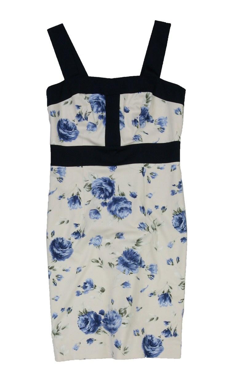 biała sukienka Bialcon w kwiaty - kolekcja na lato