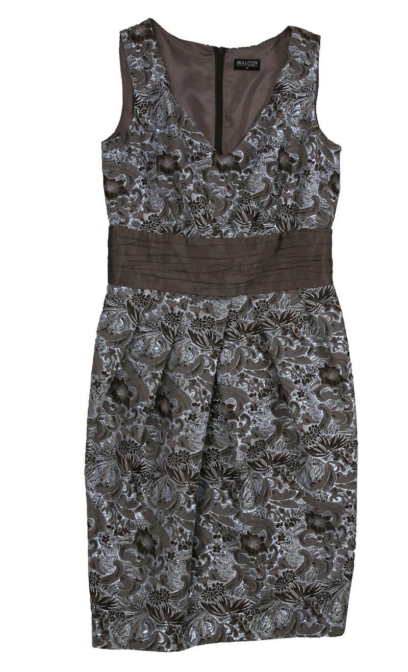 brązowa sukienka Bialcon we wzory - wiosna-lato 2011
