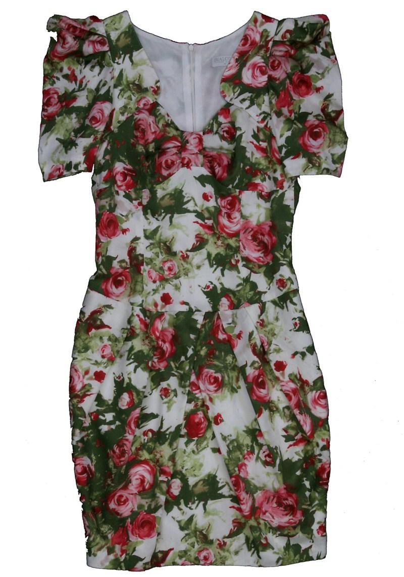 biała sukienka Bialcon w kwiaty - moda wiosna/lato