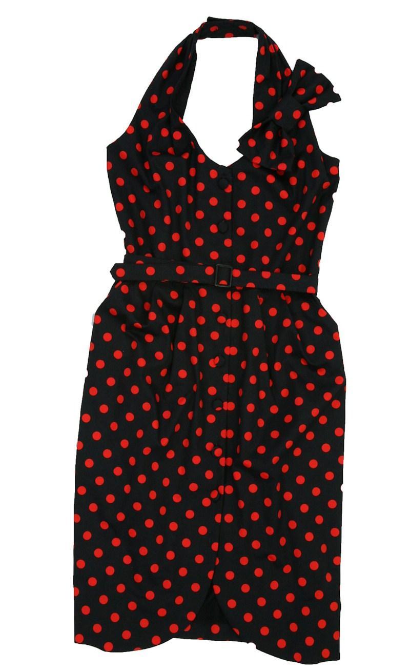 czarna sukienka Bialcon w groszki - kolekcja wiosenno/letnia