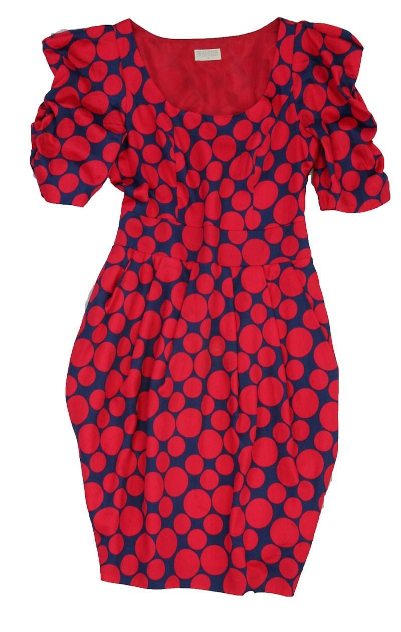 sukienka Bialcon w grochy - kolekcja jesienno-zimowa
