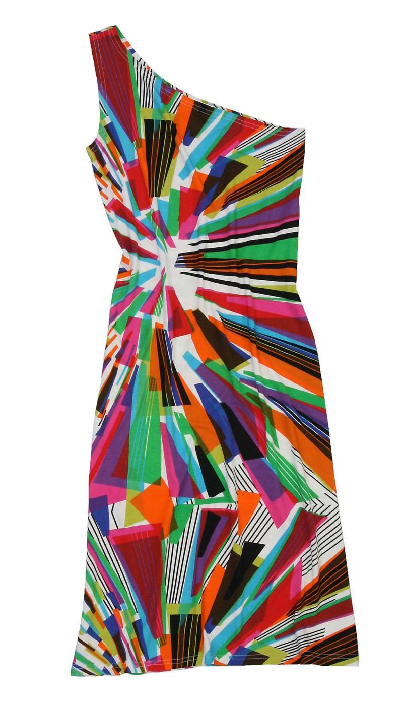 kolorowa sukienka Bialcon we wzory - kolekcja na lato