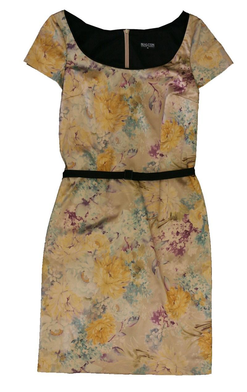 sukienka Bialcon w kwiaty - moda wiosna/lato