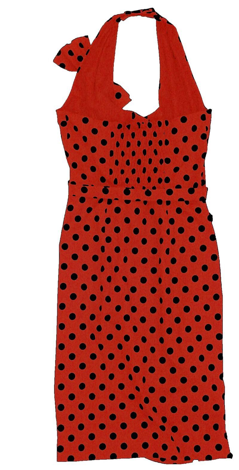 czerwona sukienka Bialcon w groszki - z kolekcji wiosna-lato 2011