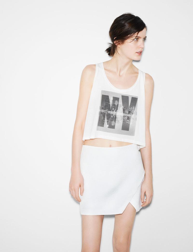 mini spódniczka ZARA w kolorze białym - trendy 2013
