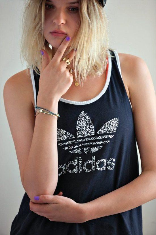granatowa koszulka Adidas - moda 2013