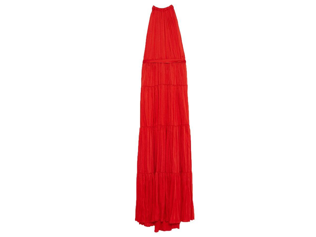 Długa czerwona sukienka, Zara, cena ok. 199,00 zł