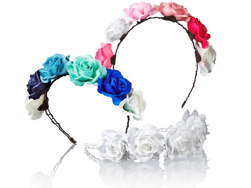 Kolorowa opaska w kwiatki, Glitter, cena: 59,90 zł