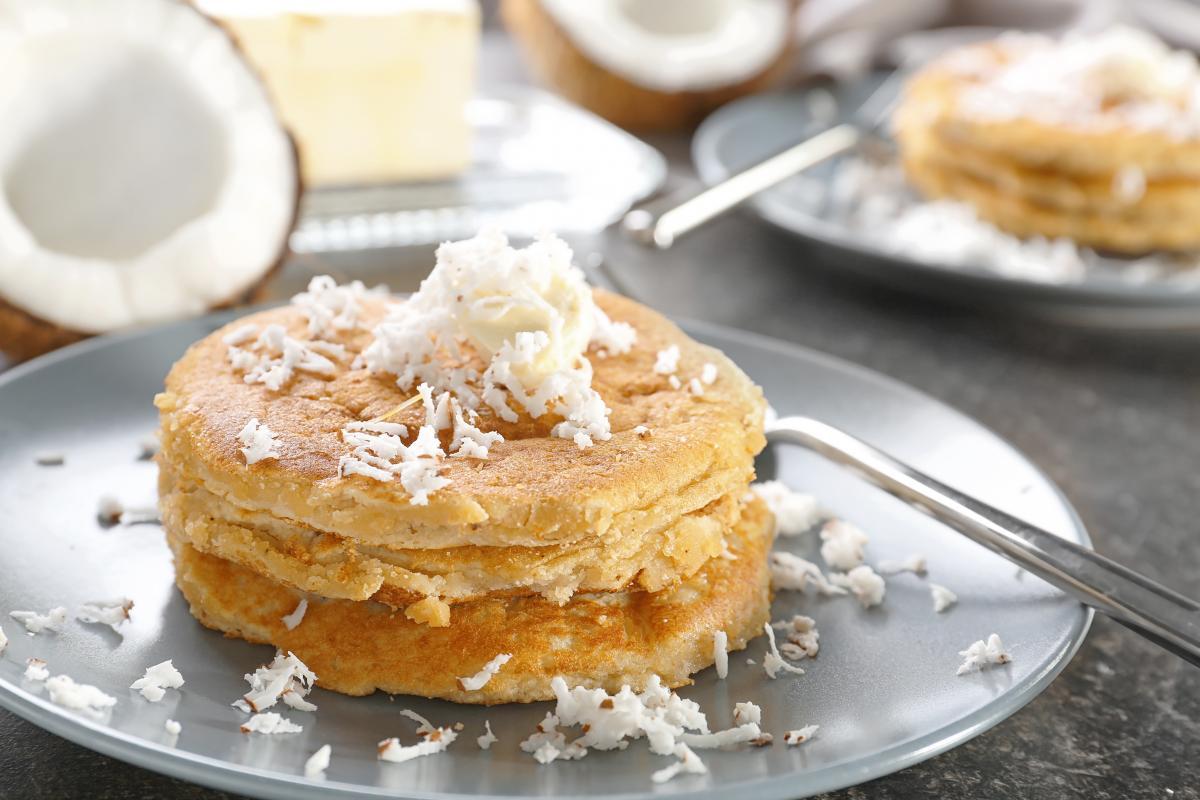 Dietetyczne naleśniki z mąki kokosowej