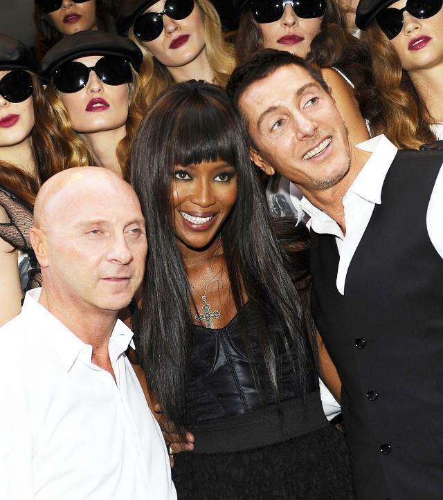Stefano Dolce, Domenico Gabbana, Naomi Campbell