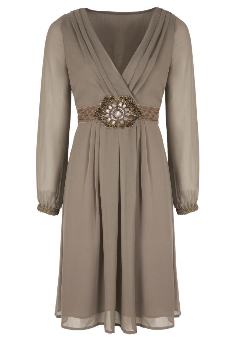popielata sukienka Next - moda zimowa