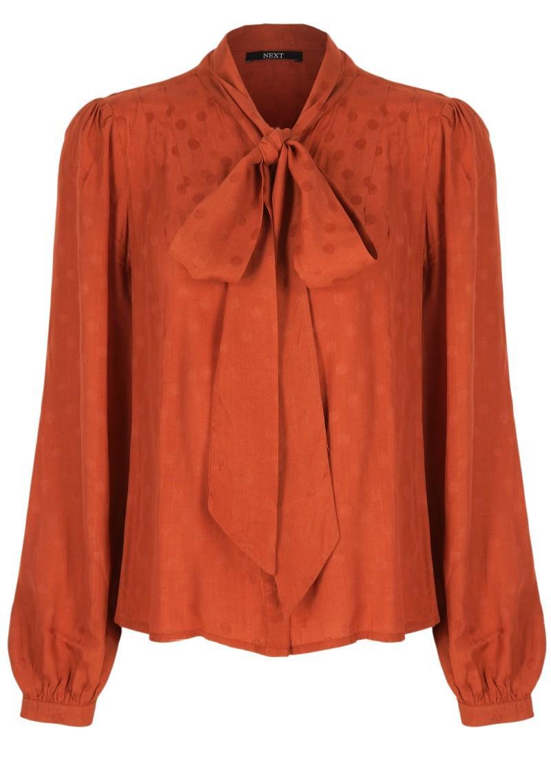 pomarańczowa bluzka Next - moda zimowa