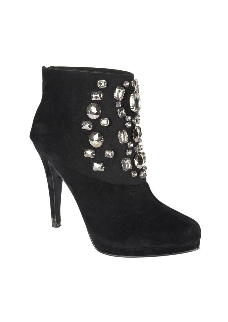 czarne botki Next - moda zimowa