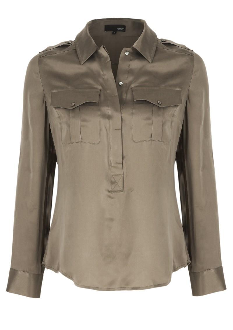 beżowa koszula Next - moda zimowa